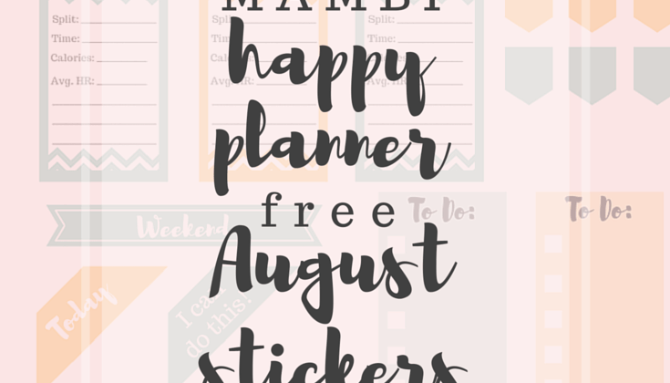 Free August MAMBI Happy Planner Stickers