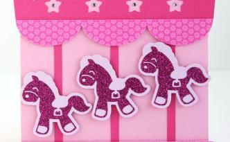 Carousel Card baby girl