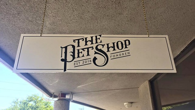 Exterior sign. Image: The Pet Shop
