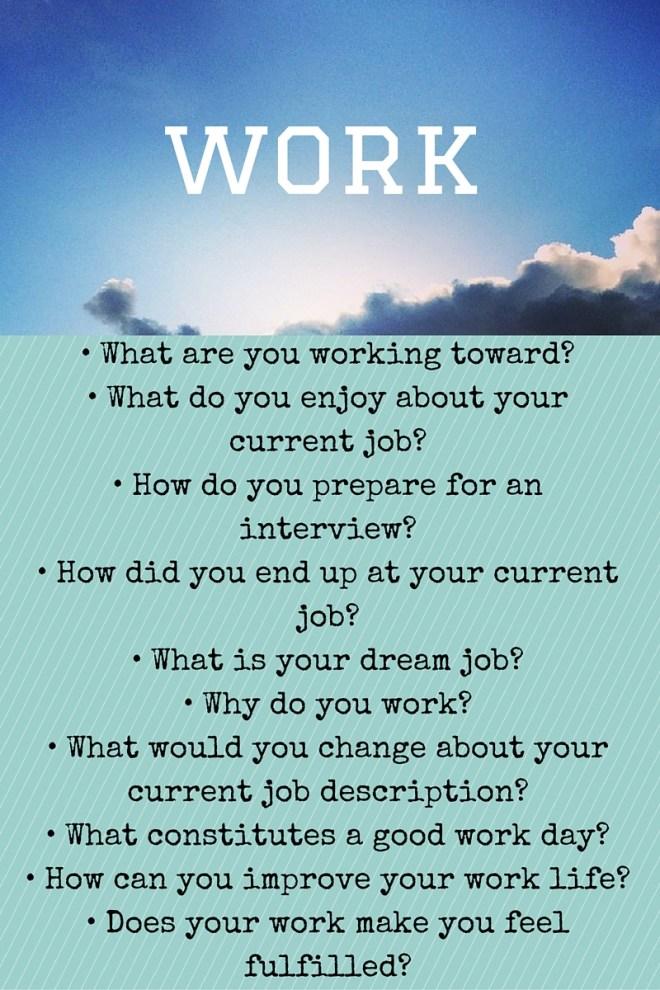 work prompts