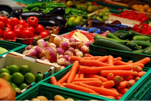Vegetables in Vegetable Market