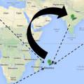 Virtual Routing to Mauritius Actual to India