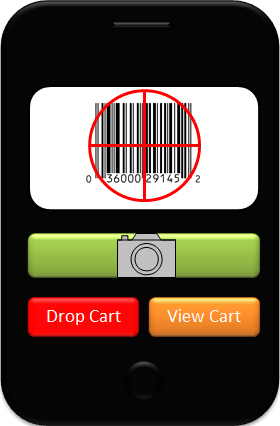 Ability to scan items in store by mobile phone