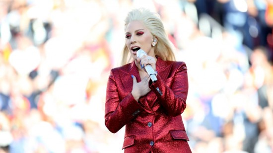 Superbowl - Lady Gaga Sings The National Anthem - San Francisco