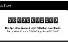 Apple festeggia 50 miliardi di app scaricate. E regala 10mila dollari