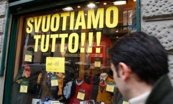 Nei primi 4 messi 2013 moria di negozi in Toscana