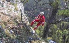 Sono intervenuti gli uomini del soccorso alpino