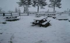 Maltempo in Toscana: neve sul Passo dello Spino, fra Bibbiena a Pieve Santo Stefano
