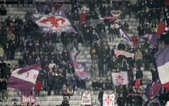 Fiorentina, con la Lazio spalti vuoti per dieci minuti