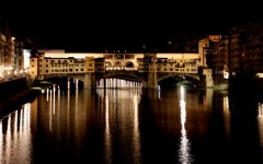 Ponte Vecchio illuminato a led