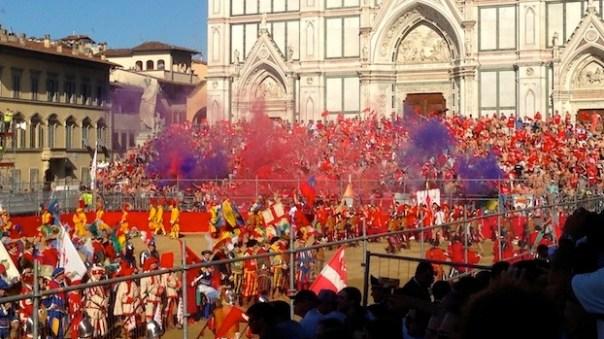 Calcio Storico Fiorentino in Santa Croce