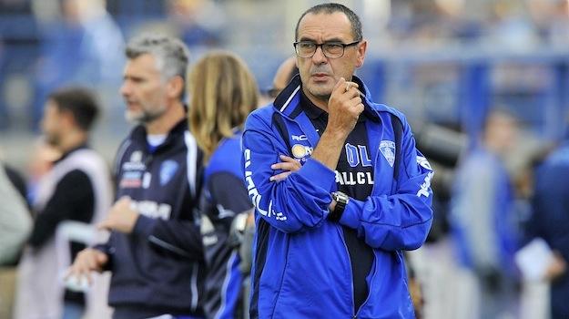 Maurizio Sarri, allenatore dell'Empoli, all'Olimpico non è andato in panchina per squalifica (Foto Giacomo Morini)