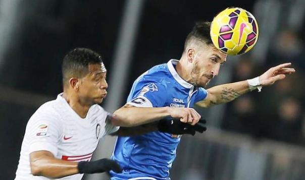 Mirko Valdifiori, centrocampista dell'Empoli confermato in azzurro dal ct Antonio Conte