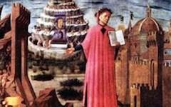 Firenze, Dante a 750 anni dalla nascita: il Sommo Poeta celebrato con bella scritta sull'asfalto alle Cure