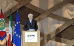 Firenze, il presidente Mattarella: «L'Expo 2015 è una sfida che l'Italia deve vincere»