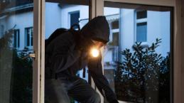 Un ladro in azione