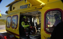 Livorno, anziano travolto dal trattore e ferito gravemente