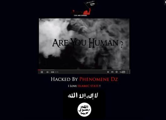 Il sito dell'Accademia della Crusca dopo l'attacco degli hacker