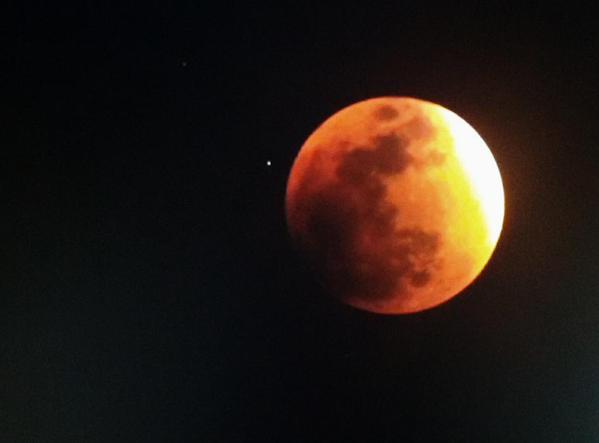 Luna ore 21,45 in Ecuador (4,45 in Italia)