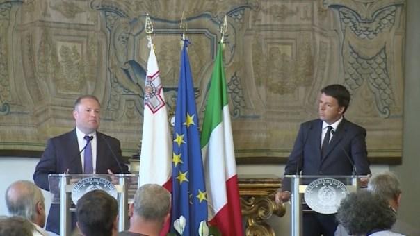 Joseph Muscat e Matteo Renzi stamani 3 settembre a Firenze