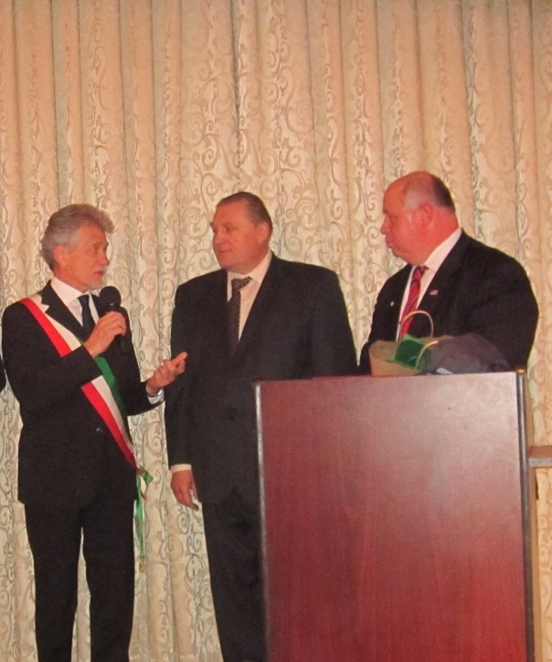 Alessandro Ghinelli col Sindaco di Parsippany
