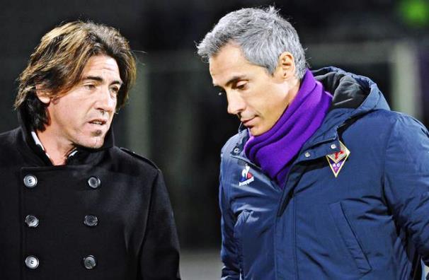Fiorentina-Belenenses, Paulo Sousa (a destra) con Sao Pinto, suo vecchio compagno nella nazionale portoghese e ora allenatore del Belenenses