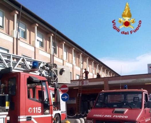 I vigili del fuoco sono intervenuti a Cisanello