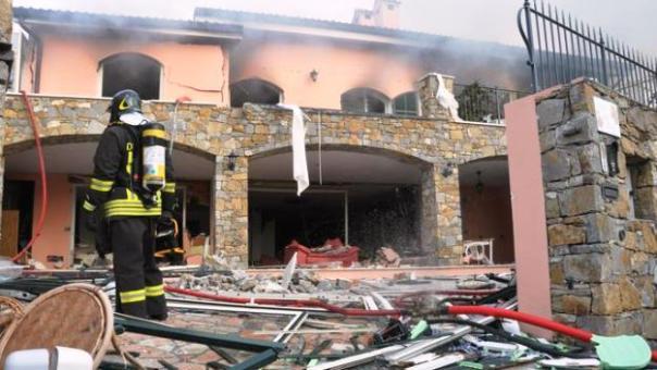 Sanremo, la villa dove Gabriel Garko è rimasto ferito. Per l'esplosione una donna è morta