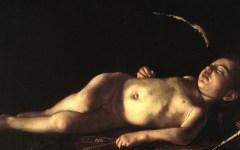 Firenze: l'«Amorino dormiente» di Caravaggio è volato da Palazzo Pitti a Lampedusa