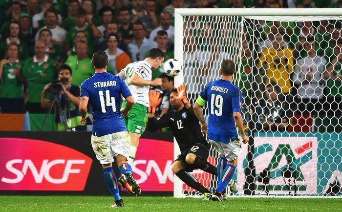 Il gol di Brady, che consegna all'Irlanda la vittoria e una storica qualificazione come terza