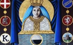 Siena, palio del 2 luglio: presentato il drappellone dedicato alla Misericordia