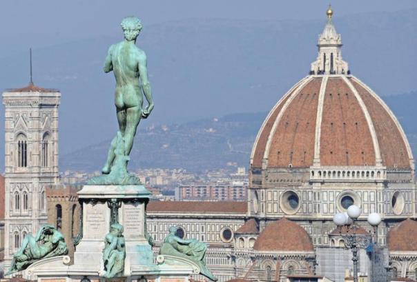 Firenze panorama veduta David piazzale Michelangelo, Duomo, Campanile Giotto