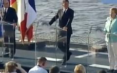 Ventotene: vertice Merkel-Hollande-Renzi (foto). Dichiarazioni di principio ma nessuna decisione, neppure in tema di banche e immigrazione