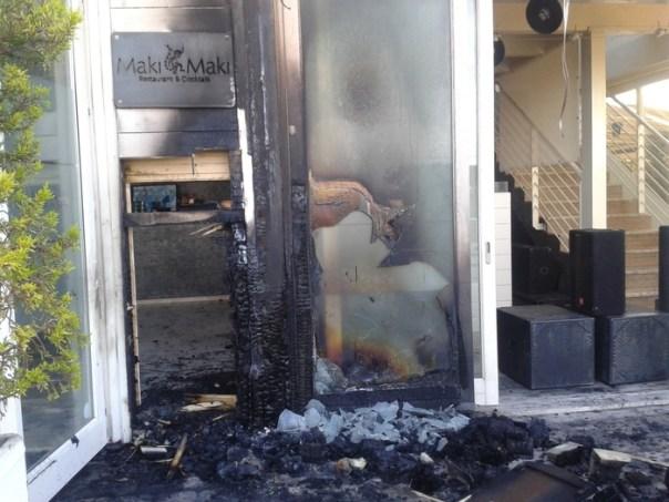 Incendio in locale Maki Maki a Viareggio