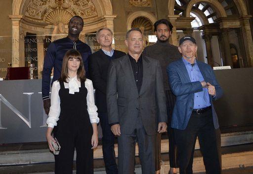 Inferno: il cast degli attori, con Ton Hanks e il regista Ron Howard