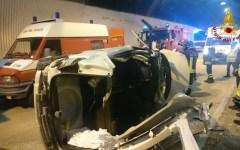 Firenze A1: incidente con due feriti, fra cui un disabile, nella galleria castagna
