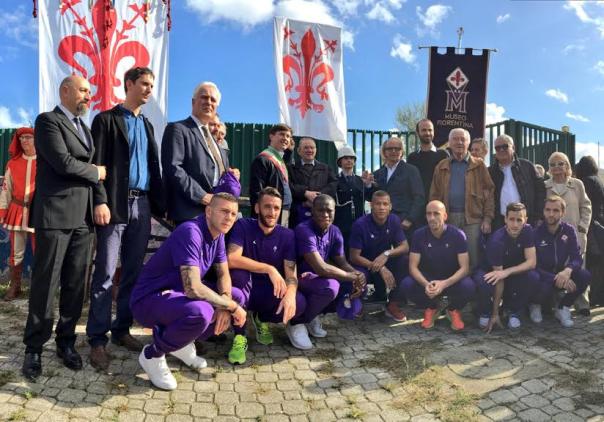 I campioni di ieri e i giocatori di oggi sotto il Gonfalone di Firenze
