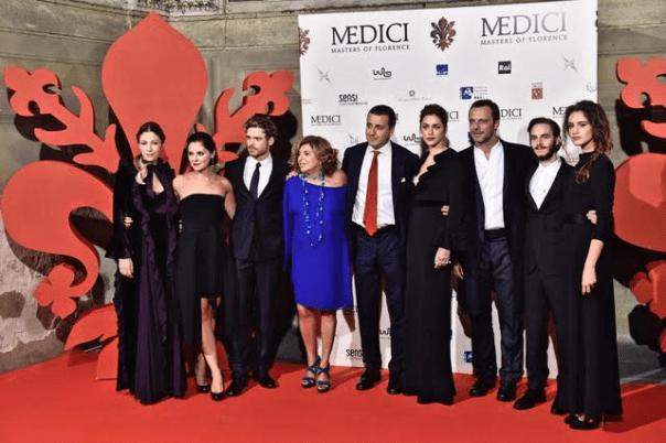 Il cast di attori protagonisti de I Medici