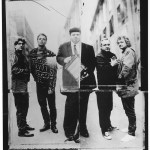 Pere Ubu 1993.  (l to r) Garo Yellin, Tony Maimone, David Thomas, Jim Jones, Scott Krauss. Photo Credit: Frank Ockenfels.