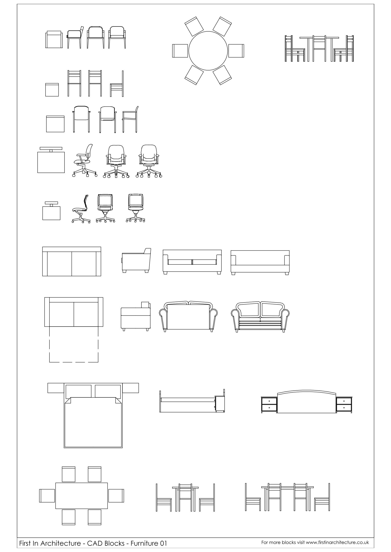 Cad Blocks Furniture First In Architecture