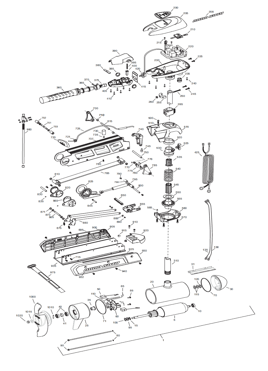Minn Kota Trolling Motor Parts Diagram Wiring 12 Volt Riptide Caferacers Com