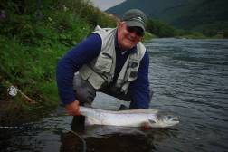 Mr. Pr Jansson with beautiul summer fish from the Surna River