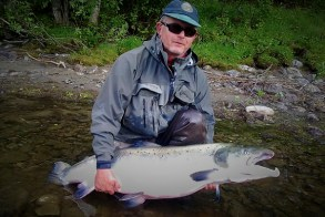 + 50 lbs Atlantic salmon on Sunray Shadow