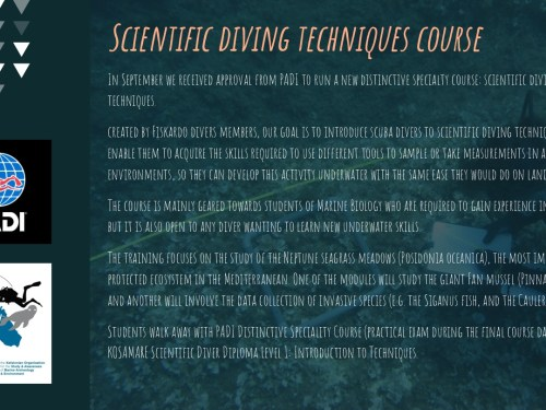 Scientific Diving Methodology course