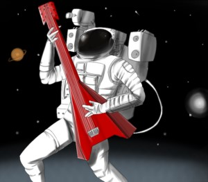 Astronaut with Guitar