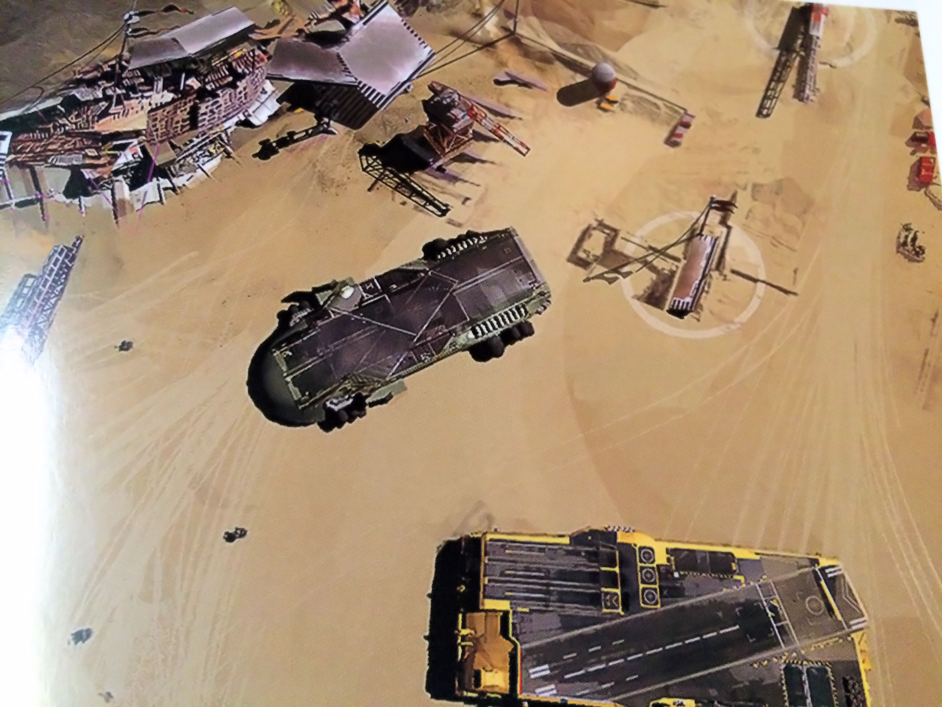 Homeworld Deserts of Kharak Collector's Edition Concept Art - Gaalsien and Coalition Carrier