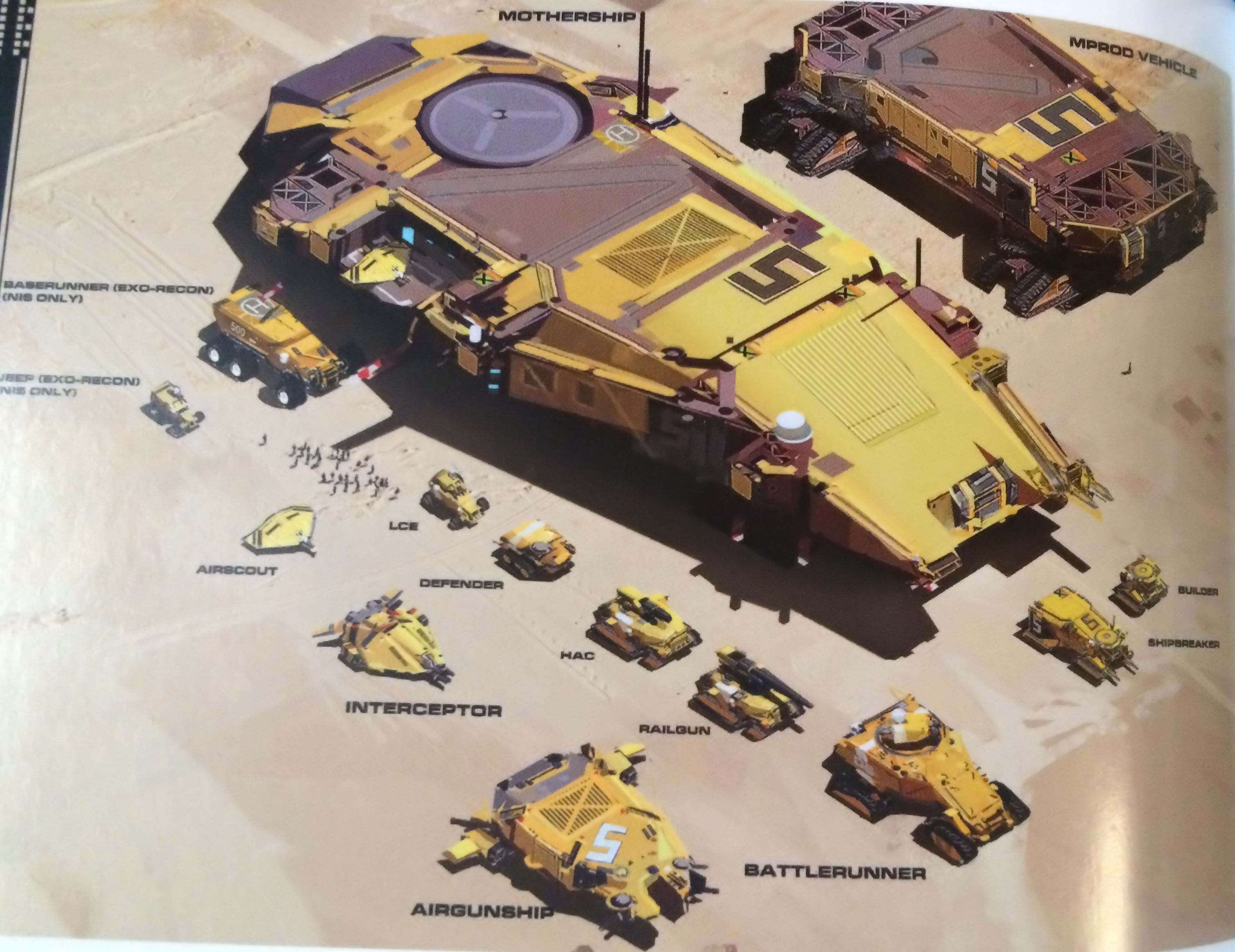 Homeworld Deserts of Kharak Collector's Edition Concept Art - Hardware Shipbreakers Fleet Ships
