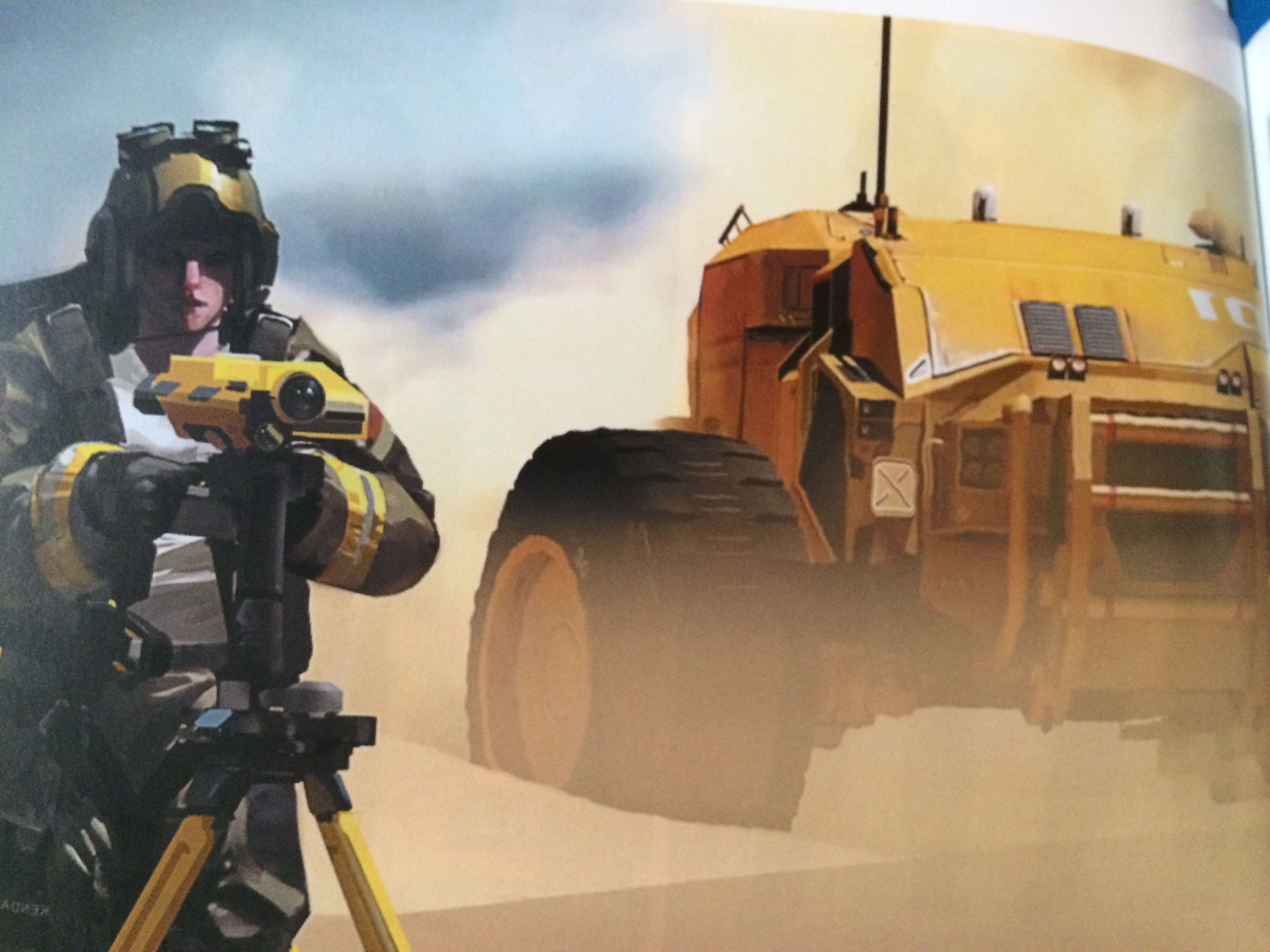 Homeworld Deserts of Kharak Collector's Edition Concept Art - Survey with Rachel and Baserunner