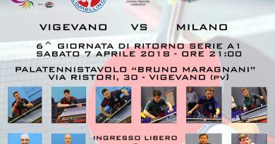 Domani alle 21 in diretta Facebook il big match di A1 maschile tra TT Lomellino e Milano Sport