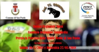 Il 26 e 27 maggio torneo Open a San Paolo (BS)
